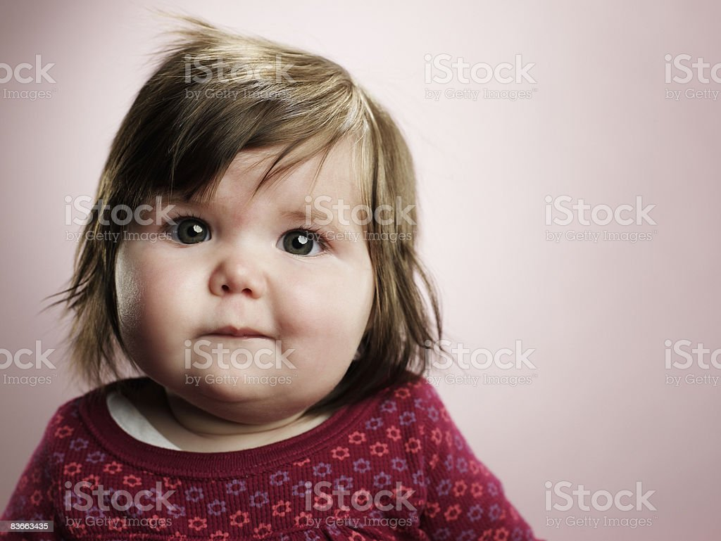 Portrait of a 4 month old baby girl. royalty-free stock photo