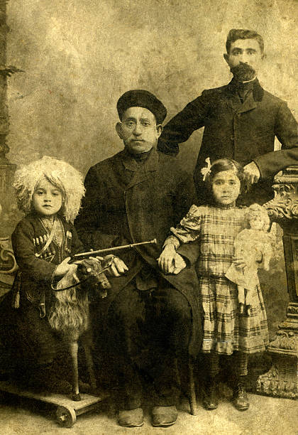 Portrait of a armenian family. Portrait of a armenian family,Caucasus,Russia. armenian ethnicity stock pictures, royalty-free photos & images