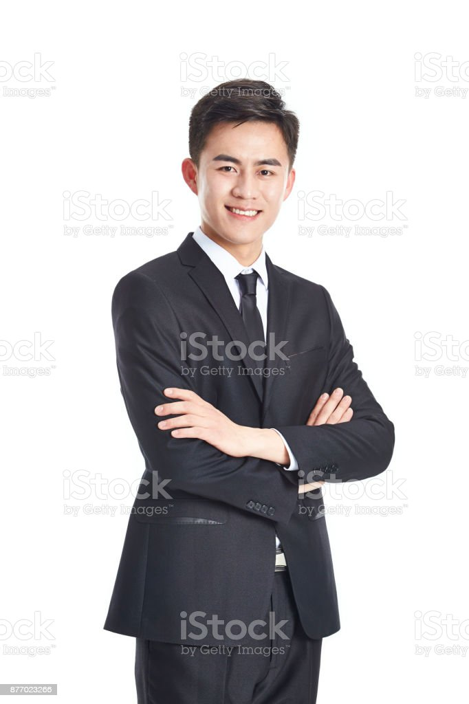 portrait of a asian businessman stock photo