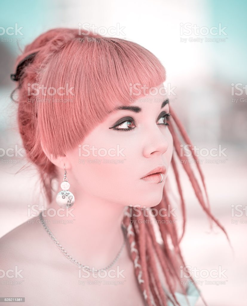 Portrait of a asian woman. stock photo