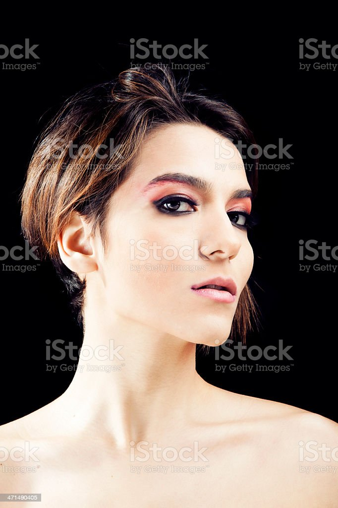 Portrait of a Attractive and sensual woman royalty-free stock photo