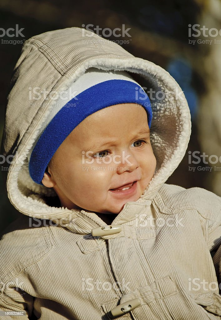 Portrait of a baby boy royalty-free stock photo