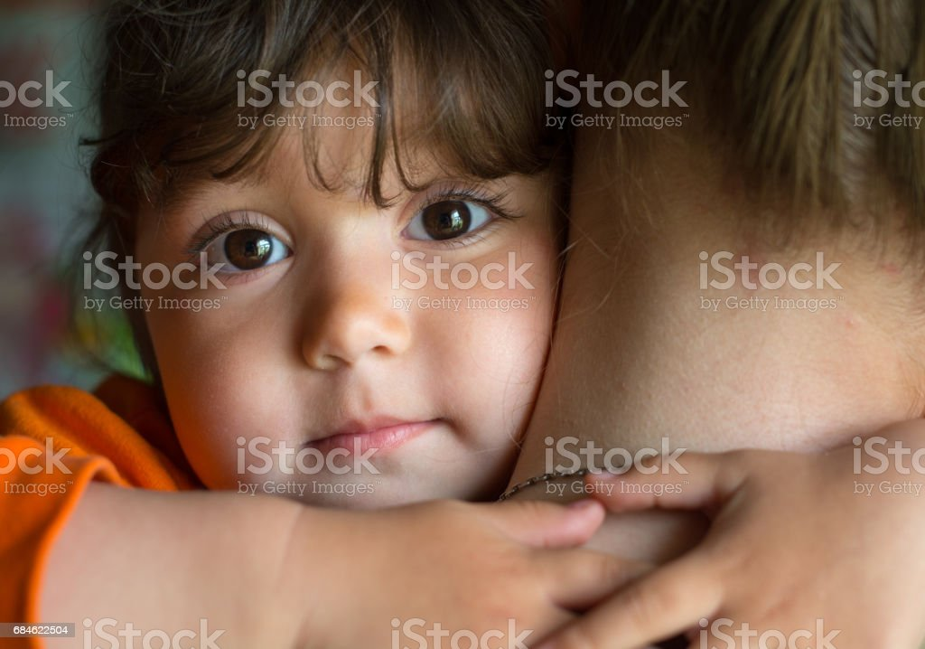 Portrait of a baby - girl stock photo