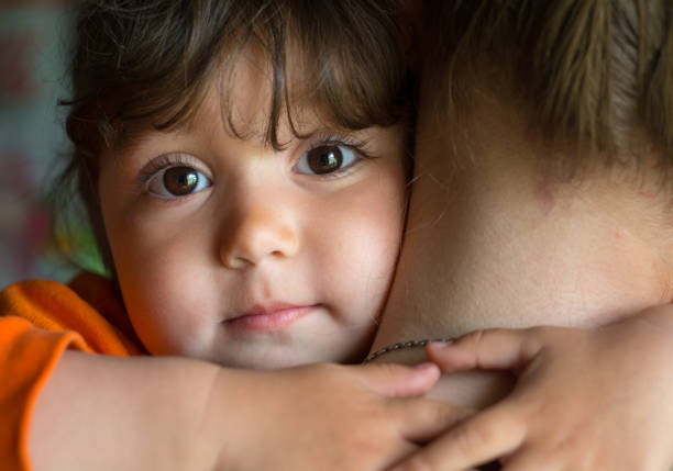 portrait of a baby - girl - poverty stock pictures, royalty-free photos & images