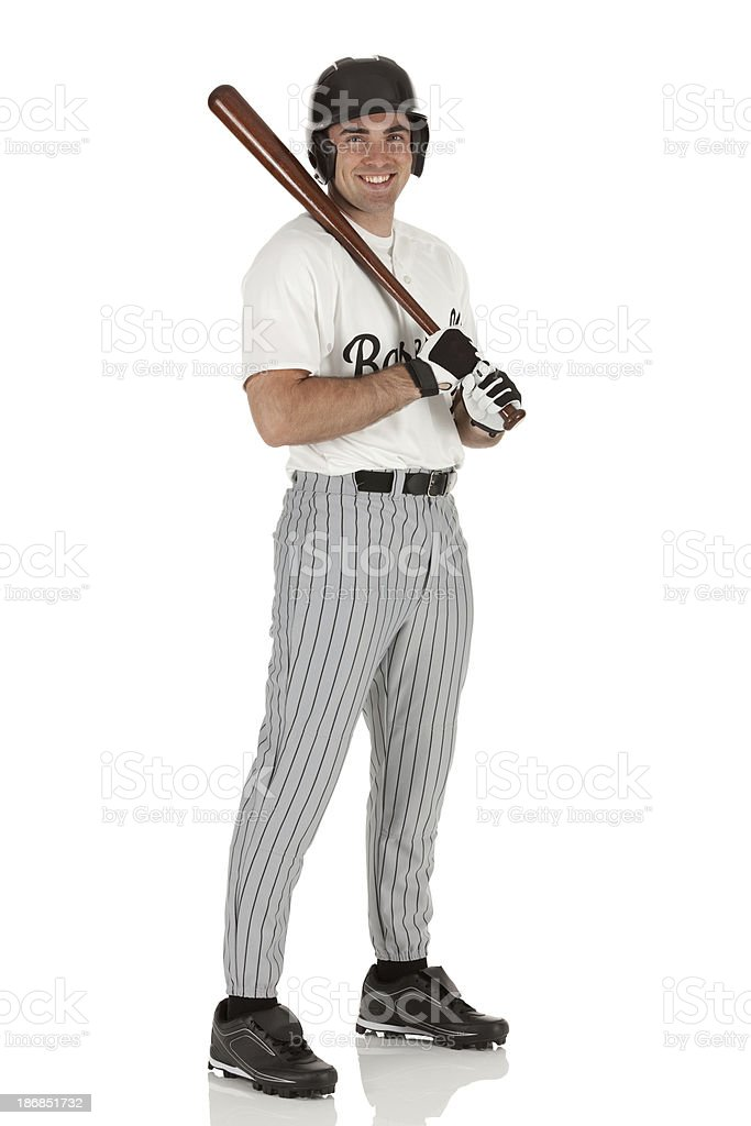Portrait of a baseball player royalty-free stock photo