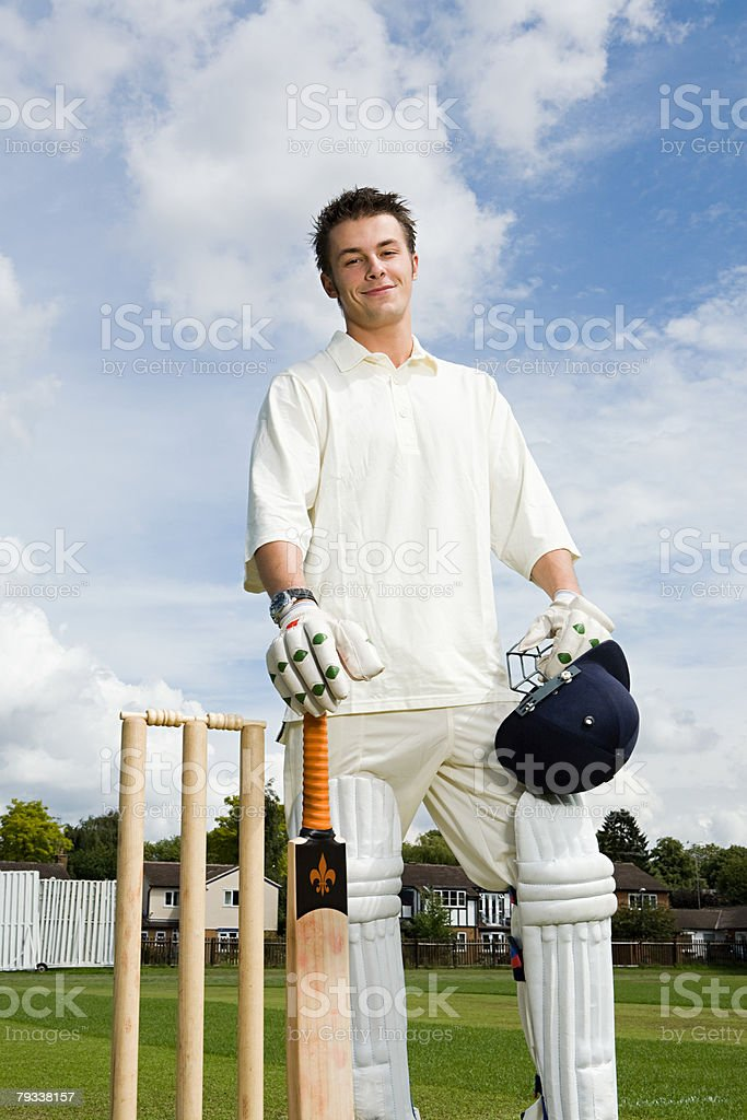 Portrait of a batter 免版稅 stock photo