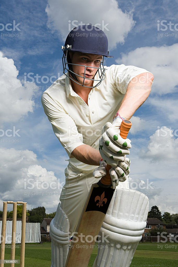 Portrait of a batter royalty-free stock photo