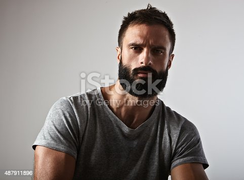 istock Portrait of a bearded guy 487911896