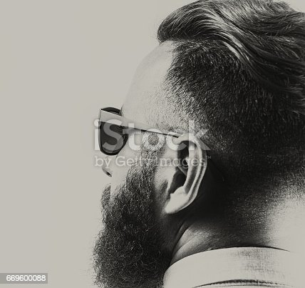 istock Portrait of a bearded man 669600088