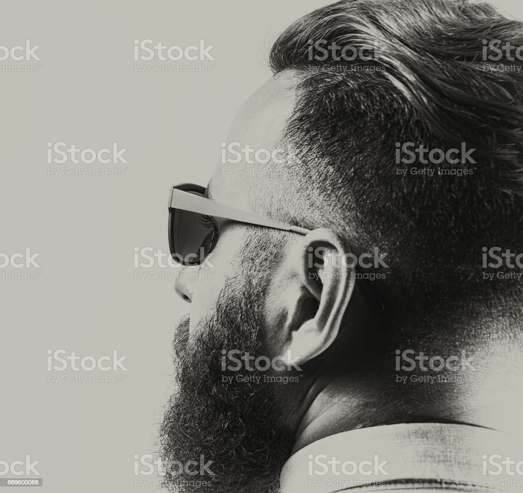 Portrait of a bearded man - fotografia de stock