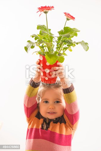 istock Portrait of a beautful little girl 494426860