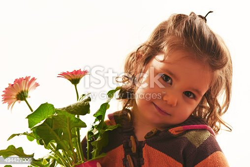 istock Portrait of a beautful little girl 494427006