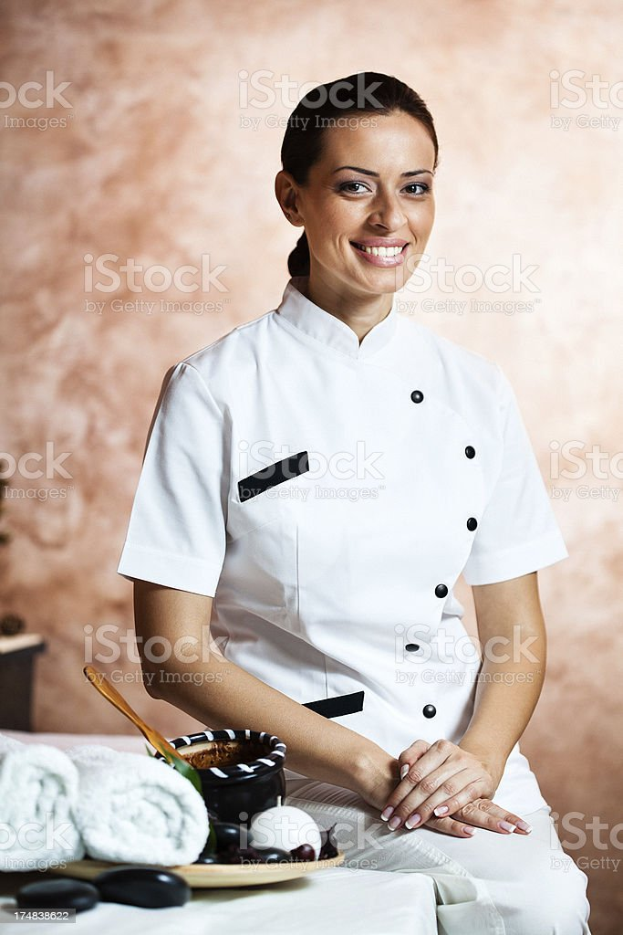 Portrait of a beautician royalty-free stock photo