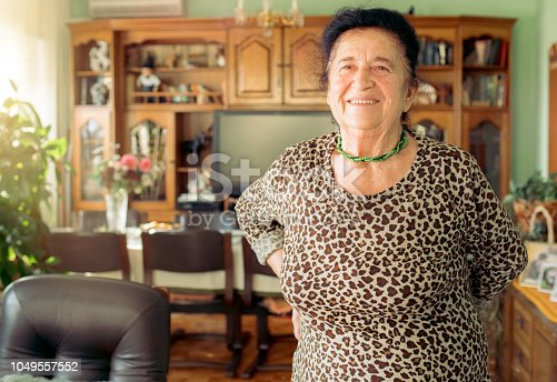 istock Portrait of a beautiful 90 year old woman 1049557552