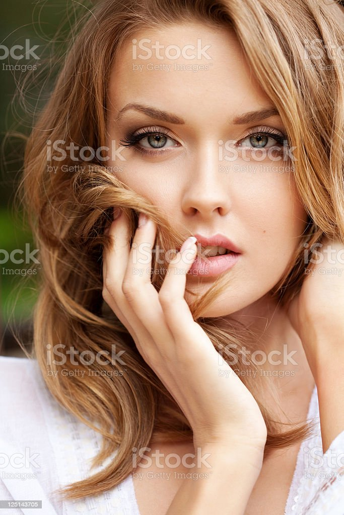 Portrait of a Beautiful and sensual woman stock photo