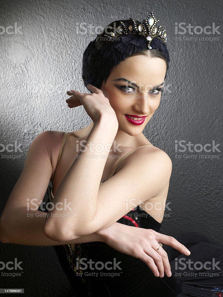 Portrait of a beautiful ballerina royalty-free stock photo