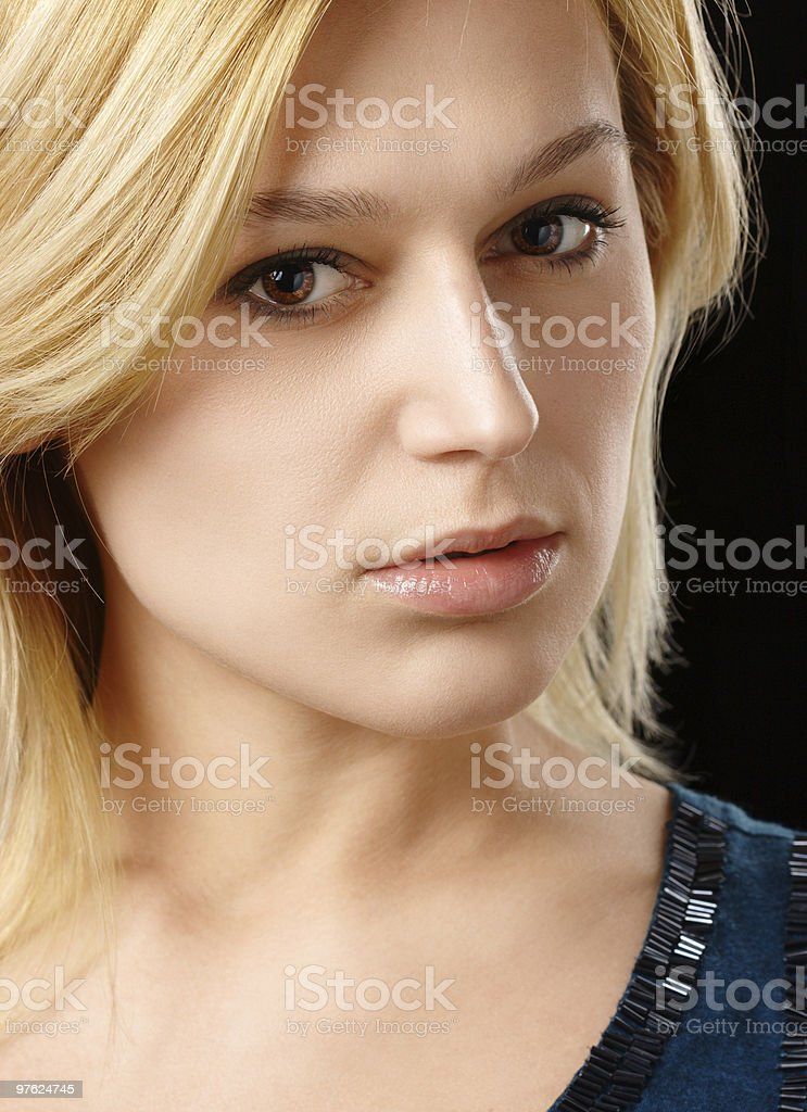 Portrait of a beautiful blonde royalty-free stock photo