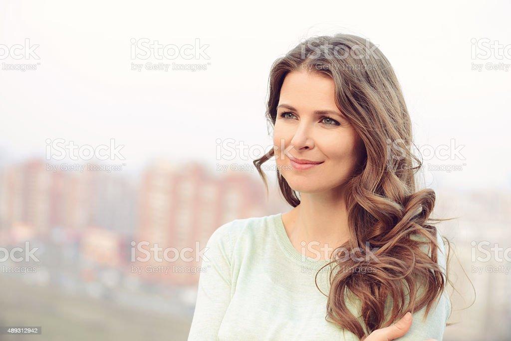 Porträt von eine wunderschöne blonde Frau – Foto