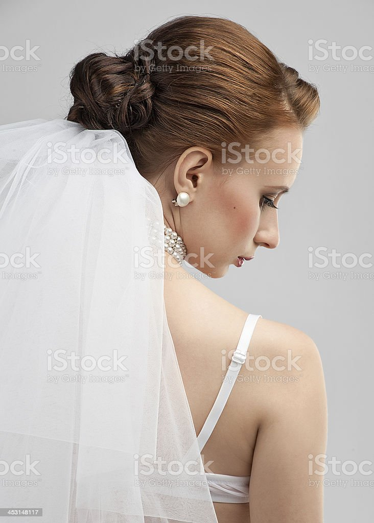 Portrait of a beautiful bride royalty-free stock photo