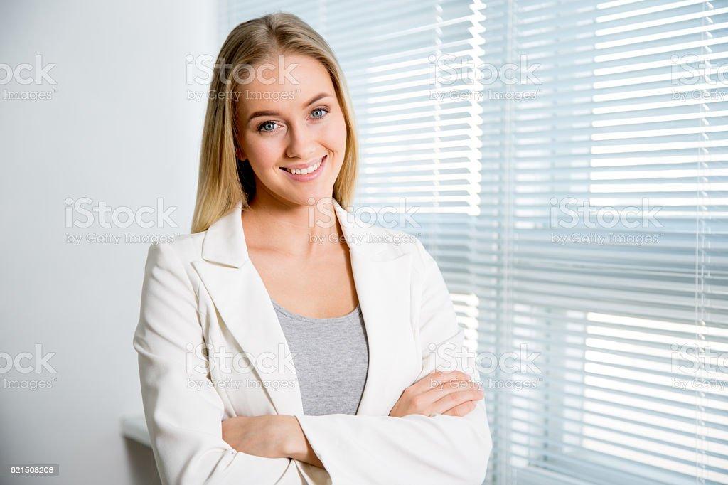 Portrait d'une belle femme d'affaires photo libre de droits