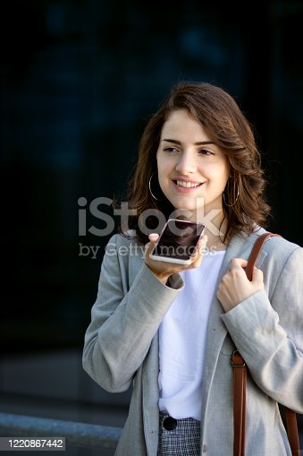 Beautiful woman using cell phone