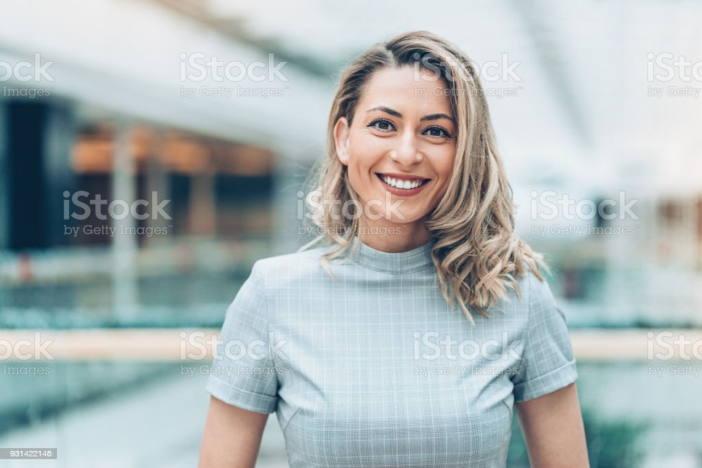 Portrait of a beautiful businesswoman stock photo
