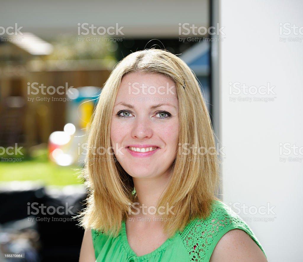 Portrait Of A Beautiful Caucasian Woman royalty-free stock photo