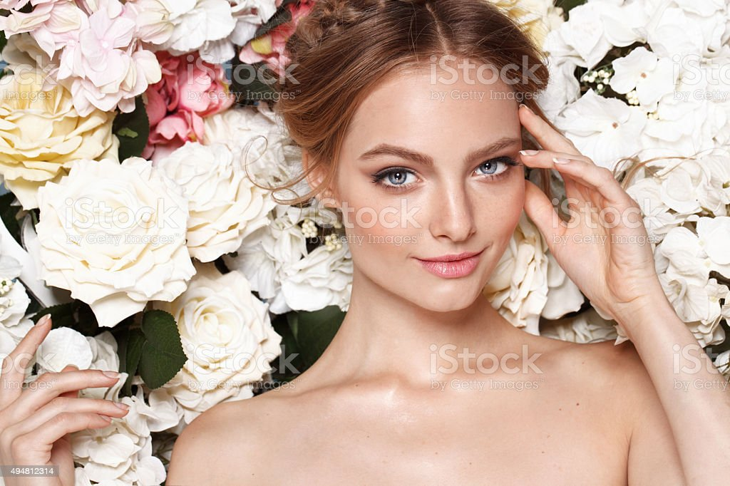 Porträt einer schöne Mode Braut, Süßes und sinnlich. – Foto