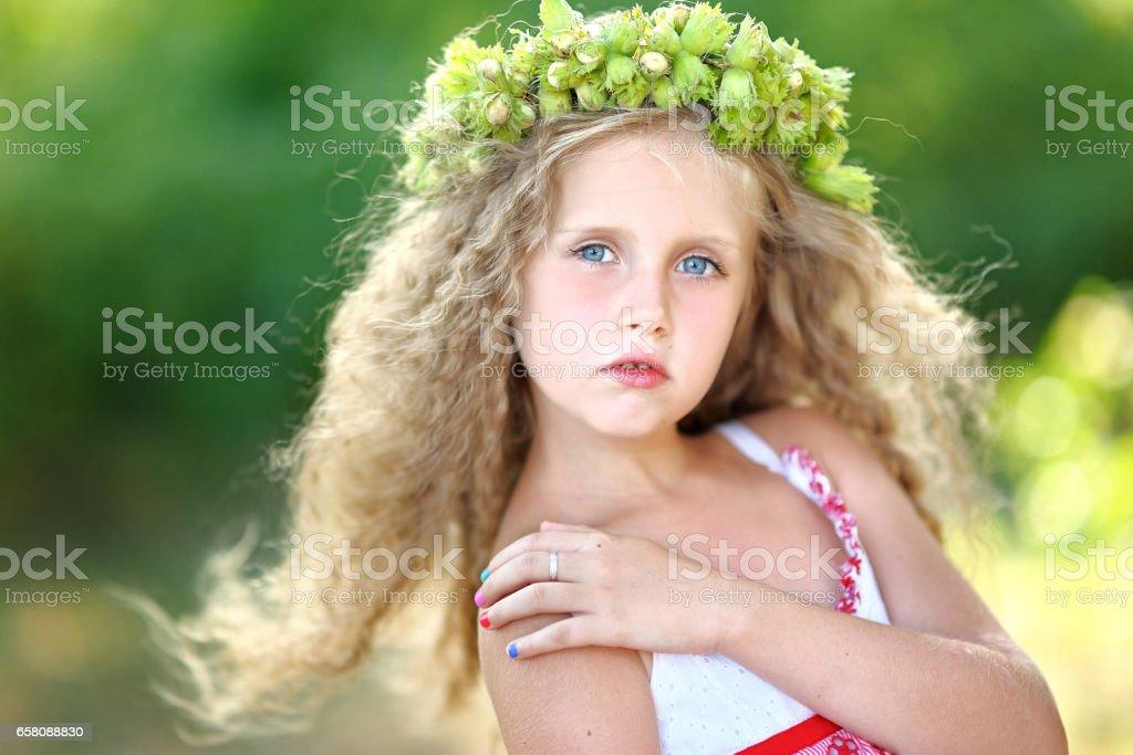 portrait of a beautiful fashion little girl royalty-free stock photo