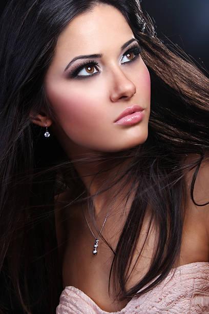 Porträt einer schöne Mode model – Foto