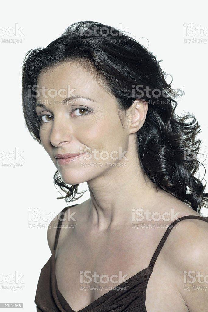 Porträt einer schönen vierzig Jahre alte Frau Lizenzfreies stock-foto