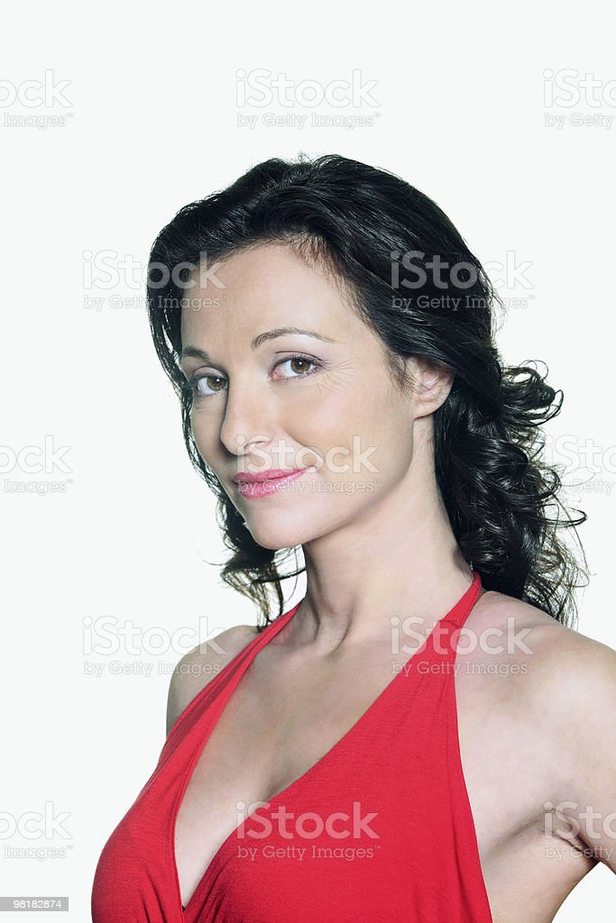 portrait of a beautiful forty years old woman royalty-free stock photo
