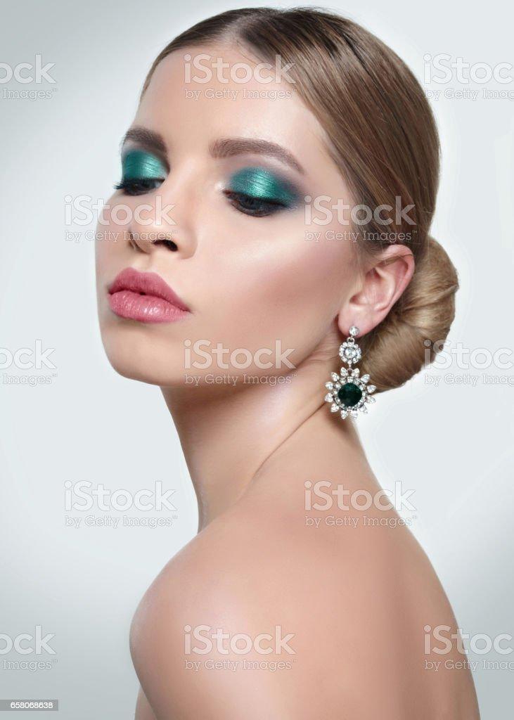 portrait of a beautiful girl glamorous girl royalty-free stock photo