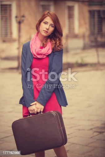 istock portrait of a beautiful girl on the street. 177762566