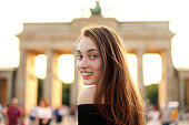 istock Portrait of a beautiful girl smiling 1160141223