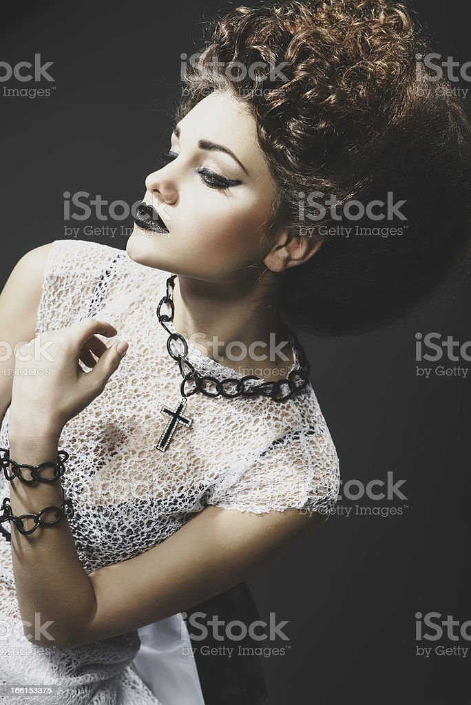 Portrait of a beautiful lady royalty-free stock photo