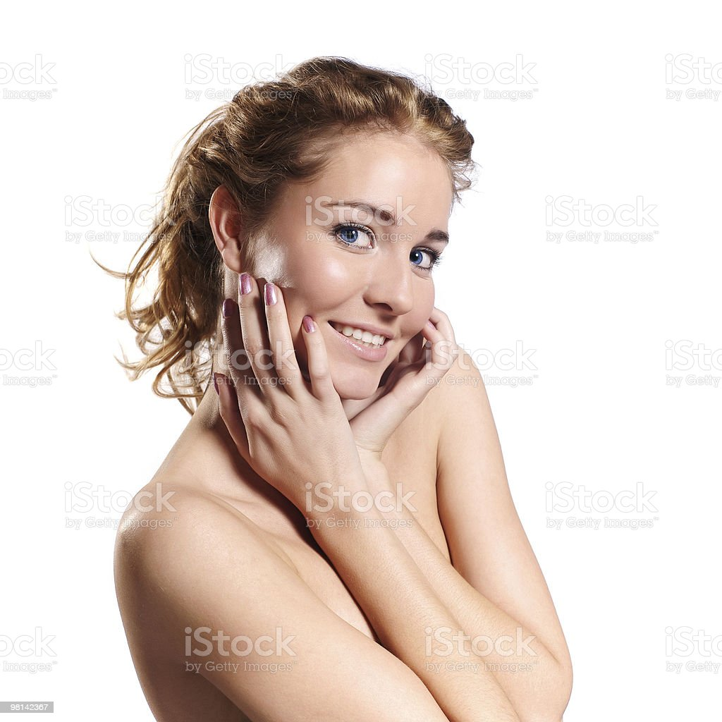 Portrait of a beautiful laughing young female royalty-free stock photo