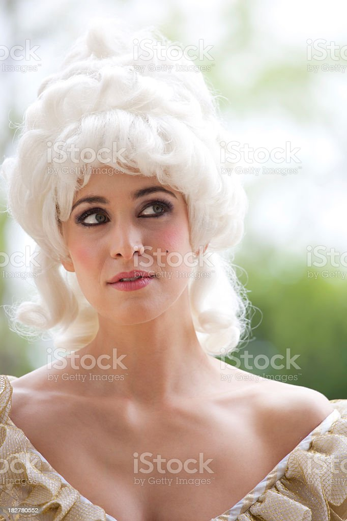 Portrait of a beautiful Marie Antoinette stock photo