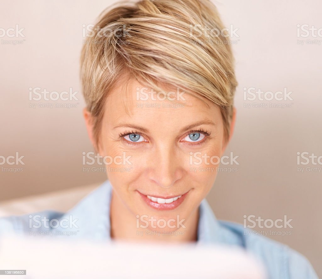 Portrait of a beautiful middle aged woman royalty-free stock photo
