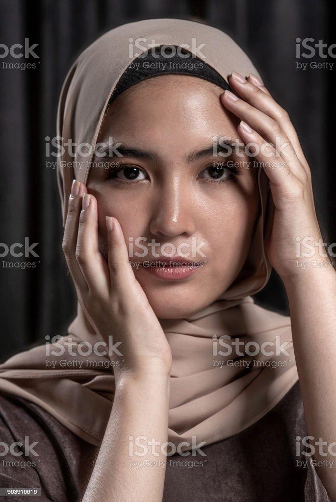 Portrait of a beautiful Muslim woman wearing the hijab - Royalty-free 30-39 Years Stock Photo