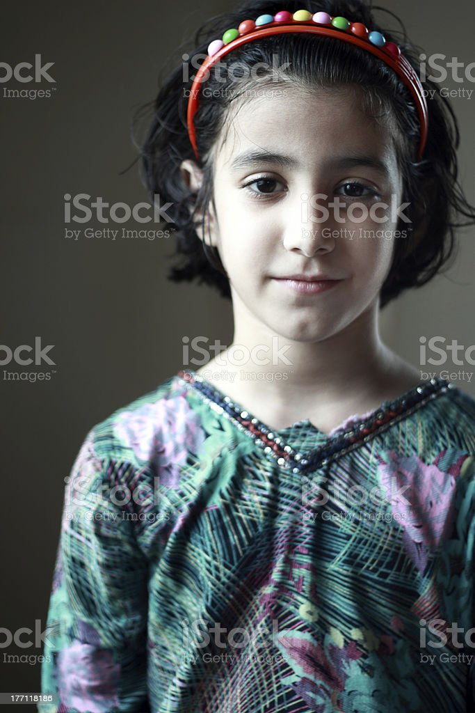 Portrait of a beautiful pathan girl. royalty-free stock photo