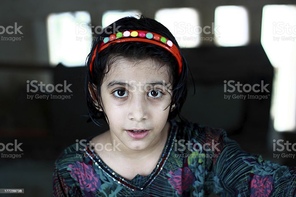 Portrait of a beautiful pathan girl. stock photo