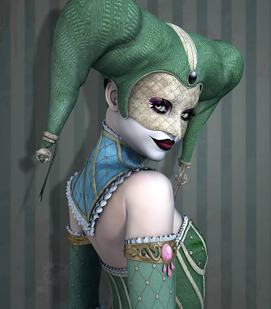 Portrait of a beautiful scary harlequin - foto de stock