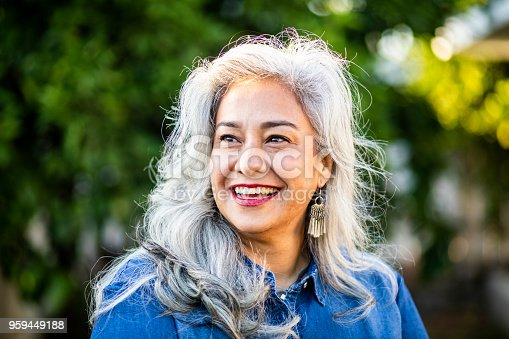 istock Portrait of a Beautiful Senior Mexican Woman 959449188