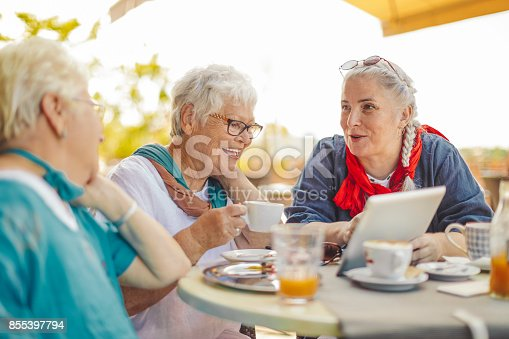 istock Portrait of a beautiful senior women 855397794