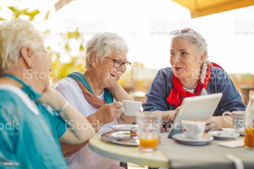 Portrait of a beautiful senior women stock photo