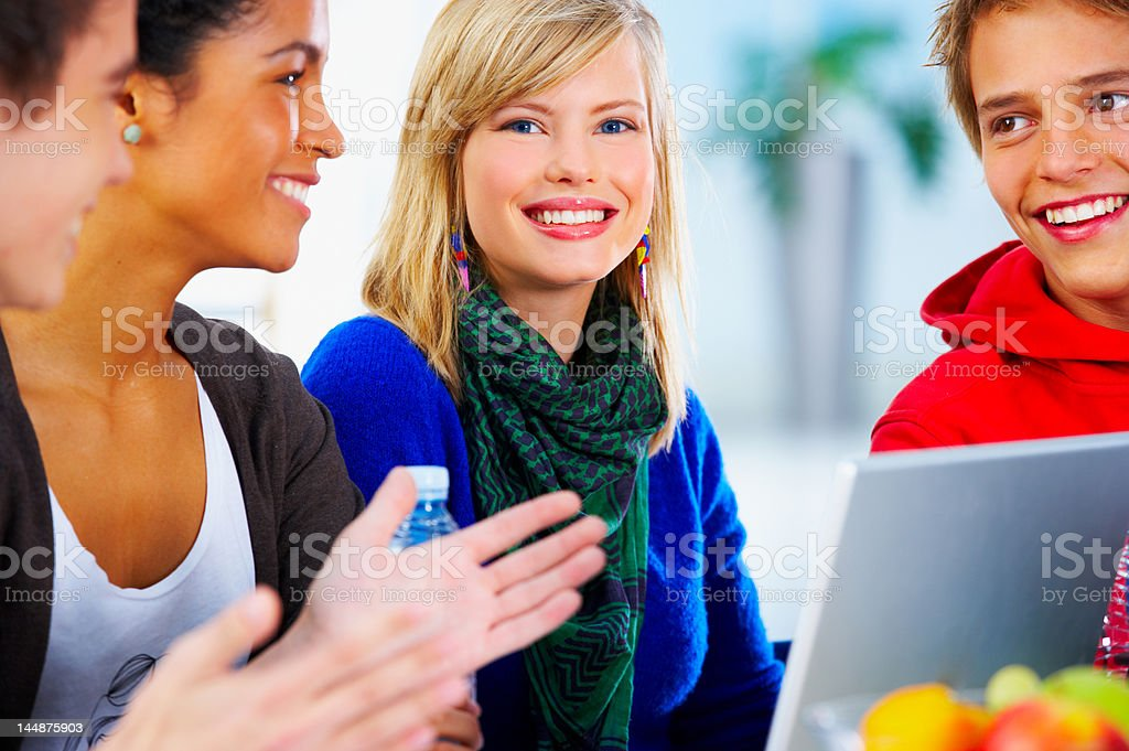 Portrait of a beautiful student royalty-free stock photo
