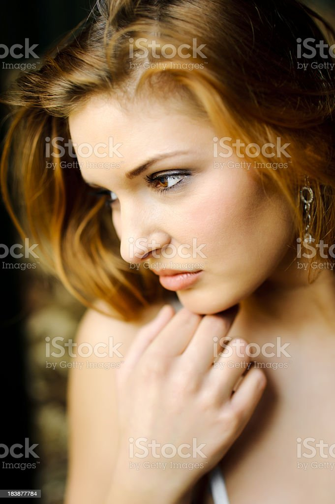 Portrait of a beautiful woman looking away royalty-free stock photo
