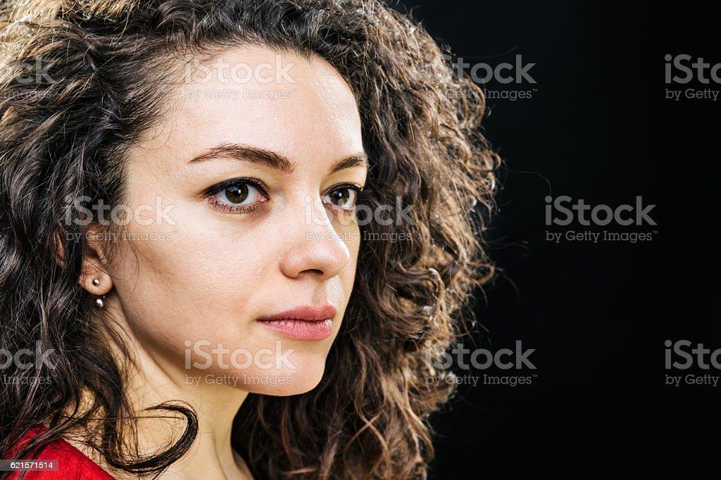 Portrait d'une belle femme  photo libre de droits