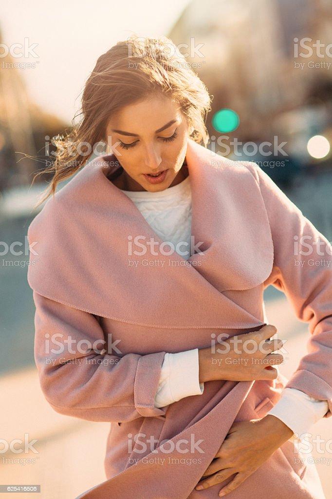 Portrait of a beautiful woman stock photo